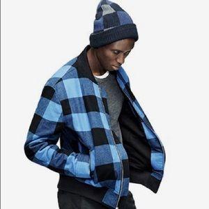 Adam Lippes Black & Blue Buffalo Jacket